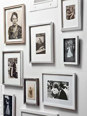 Photo: Douglas Friedman/The Nest mix ancester pics w/ own pics on walls