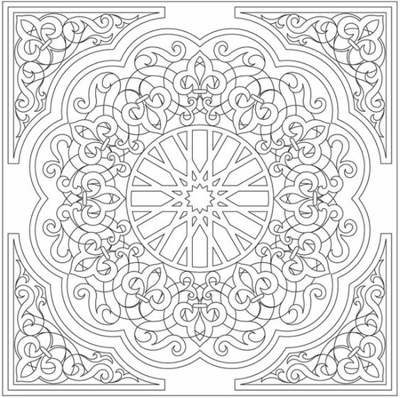 Colorama coloring book google search line art for Moroccan coloring pages