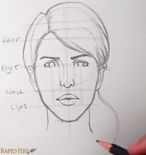 How To Draw Faces For Beginners Simple Rapidfireart Face Drawing Pencil Drawings Easy Drawings