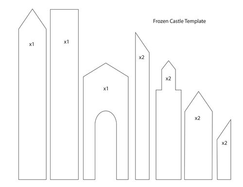 Frozen castle template google search cake decorating for Cut out castle template
