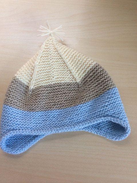 Garter Ear Flap hat free knitting pattern via ravelry (purl bee) Hats P...