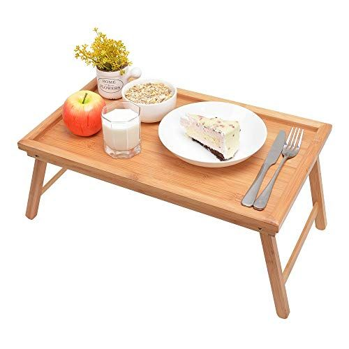Zhuoyue Bed Tray With Foldable Legs Great For Laptops Bamboo