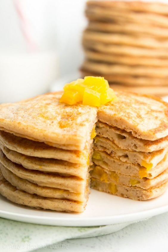 Peach Pie Pancakes