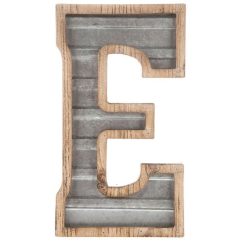 Large Wood Amp Galvanized Metal Letter Marquee Sign Wall Decor Garage Office Metal Letters Metal Letters Hobby Lobby Metal Wall Letters