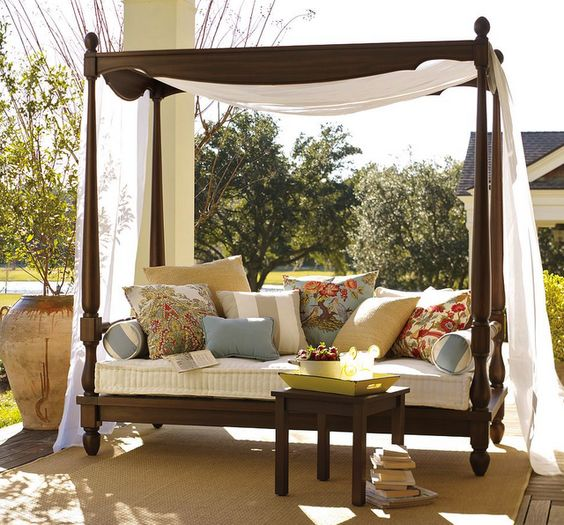 Outdoor bedroom? Inspired by Pottery Barn