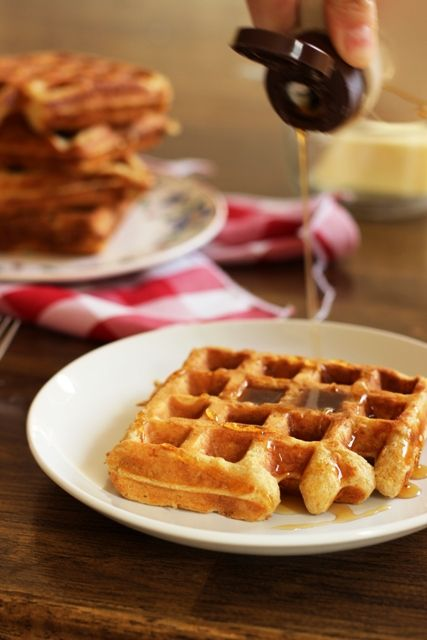 Oatmeal Waffles - Enjoy a batch of oatmeal waffles, full of whole grain goodness.