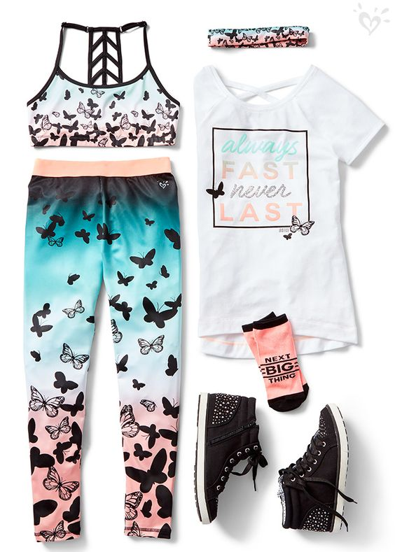 Get in gear from head-to-toe with eye catching prints, cool graphics, and can't-miss sparkle!