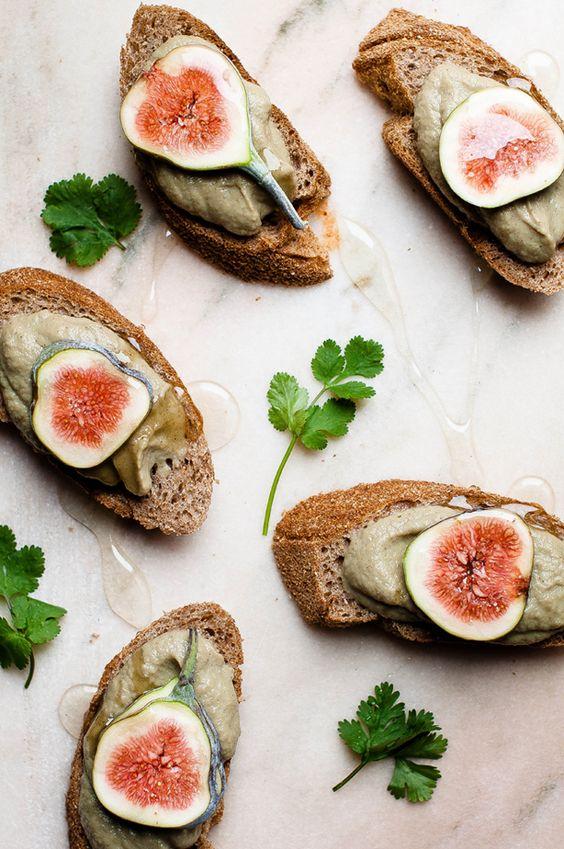Creamy Aubergine with Honey, Garlic, & Figs | Somewhere over the Kitchen