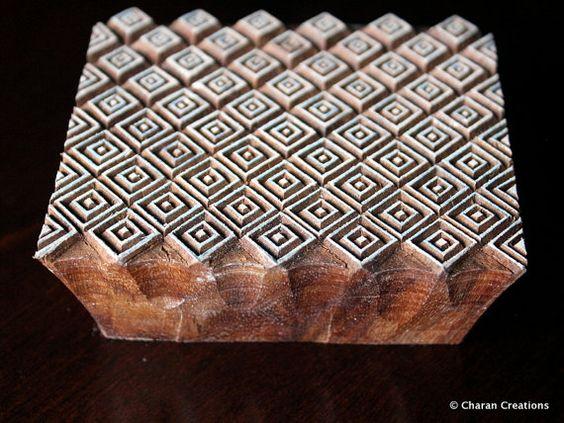 BOX-VERKAUF Textil Stempel indische Holzstempel von charancreations