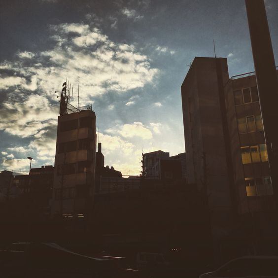 #sunset #building #road #street #tokyo