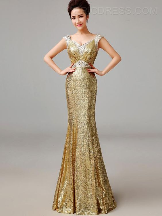 ericdress.com offers high quality  Ericdress Gorgerous Sequins Floor-Length Long Sheath Evening Dress Evening Dresses 2015 unit price of $ 122.35.