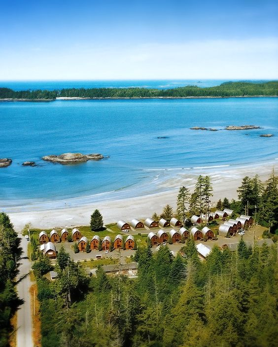 Ocean Village on a sunny day! Tofino