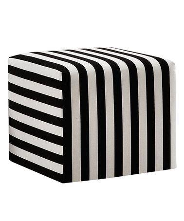 Look at this #zulilyfind! Canopy Black & White Cube Ottoman #zulilyfinds
