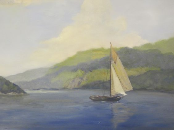 """Portraits: People, Places and Things Community Art Show 2014. """"Clearwater on the Hudson"""" by Susan Sciaretta."""