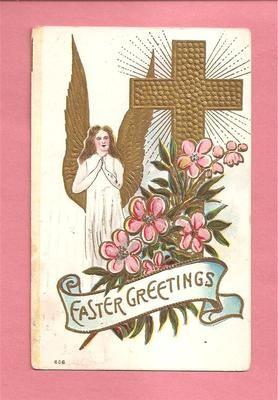Easter Angel Vintage Postcard circa 1909