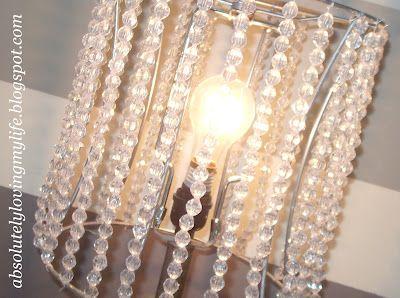 DIY Beaded Lamp Shades: Lamps Shades, Altered Lampshades, Diy Lights Candles Lampshades, Beaded Lampshades, Lamp Shades, Lamps Diy