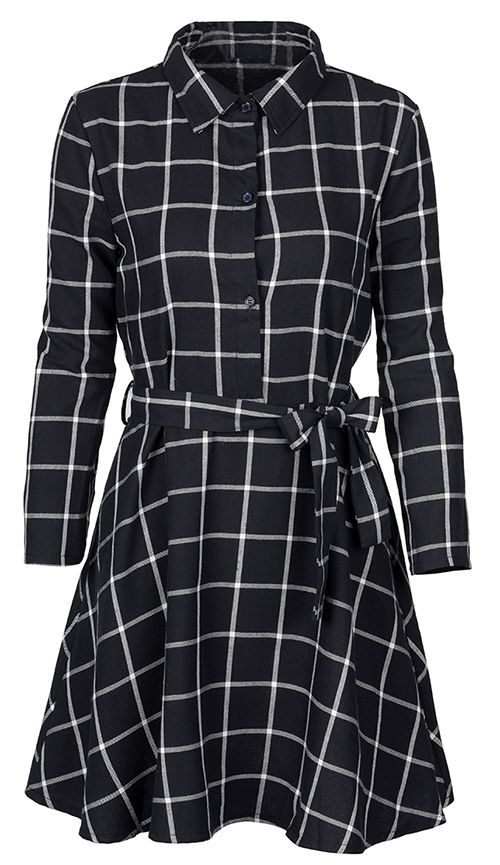 Plaid classics call! $22.99 Only with free shipping&easy return! This sash midi dress is detailed with shirt collar&button up design! So chic&cute at Cupshe.com: