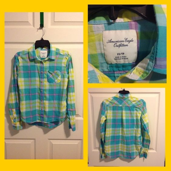 AE button up top! AE button up top! American Eagle Outfitters Tops Button Down Shirts