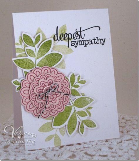 Sympathy card by Maureen Plut using Verve Stamps.  #vervestamps