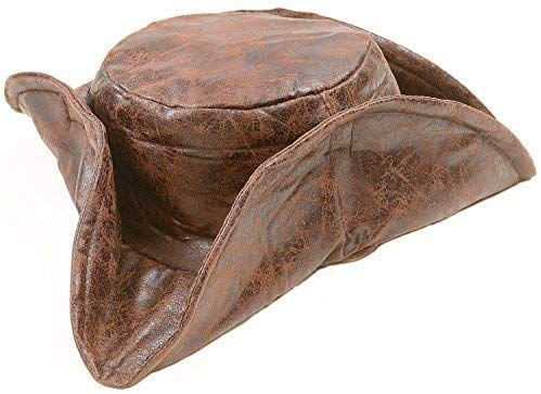Amazon Com Brown Leatherette Tri Fold Caribbean Pirate Hat Jack Toys Games Pirate Hats Pirate Costume Accessories Homemade Pirate Costumes