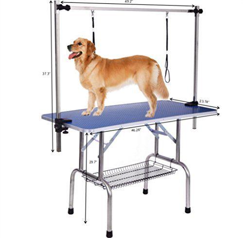 Dog Grooming Table Adjustable Clamp Overhead Pet Grooming Arm