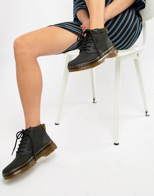 Dr Martens Bonny II Black Short Utility Boots
