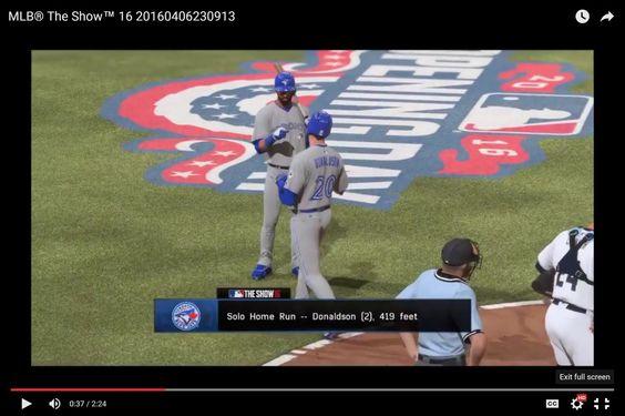 MLB® The Show™ 16 Toronto #15, Donaldson, Bautista [HR,HR]
