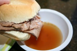 Easy Au Jus (Make sure you go easy on the pepper though! Yikes!)