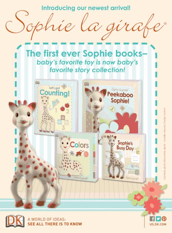 Enter to #win  Sophie la Girafe 4 book series #giveaway - great books for baby or a baby shower gift!