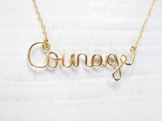 """Courage""  kette gold filled"
