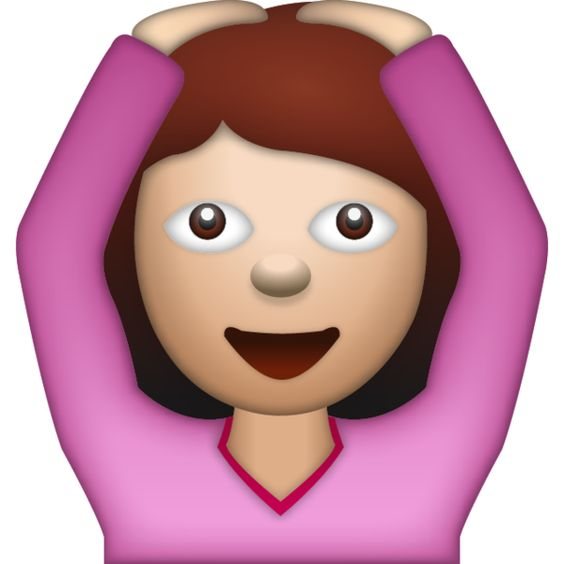 Woman Saying Yes Emoji - Say yes in a fun way with this ...