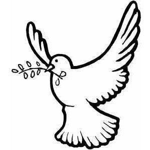 Flying Dove coloring page - Polyvore