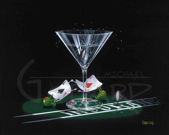 SPLITTING ACES by Michael Godard