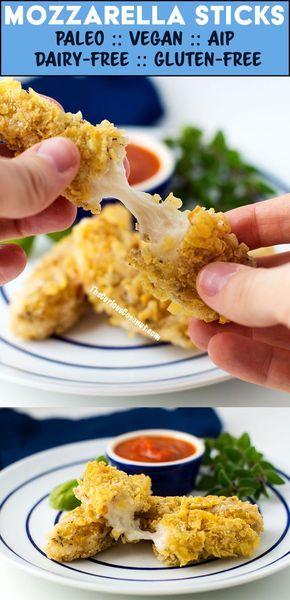 Mozzarella Sticks Paleo Aip Vegan Dairy Free