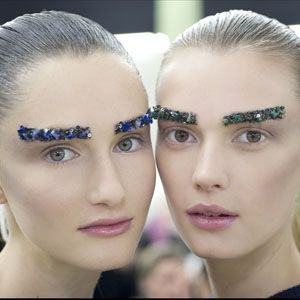 Bejewelled Brows at Chanel Autumn/Winter 2012.