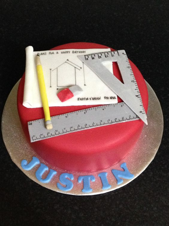 Architect cake theme for a architect
