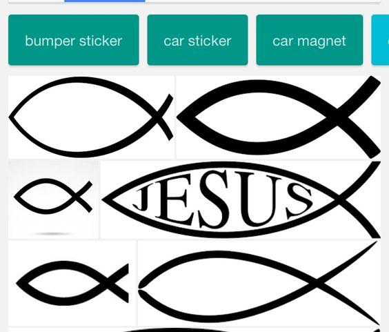 Jesus fish tattoo