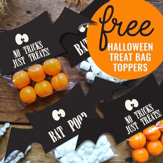 FREE Halloween Treat Bag Topper Printable on Kara's Party Ideas | KarasPartyIdeas.com (2)