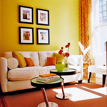 Living room color schemes living room designs living for Orange and yellow living room ideas