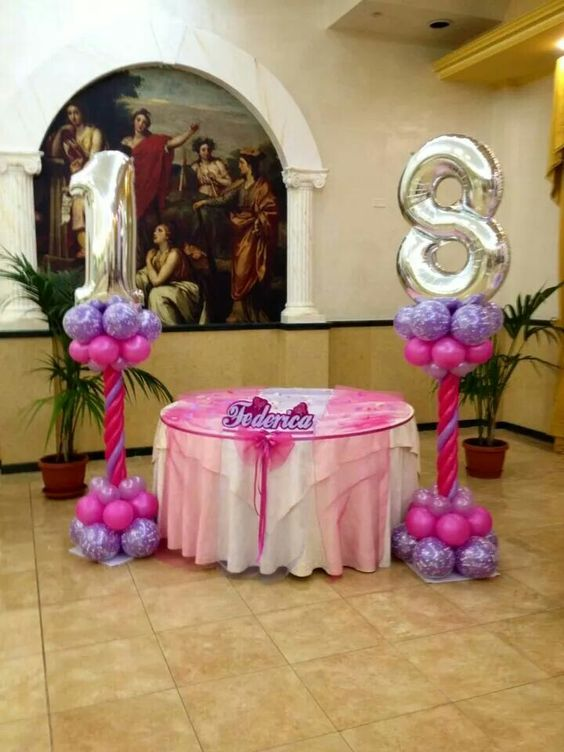 18th birthday balloon decoration balloon columns for 18th birthday decoration