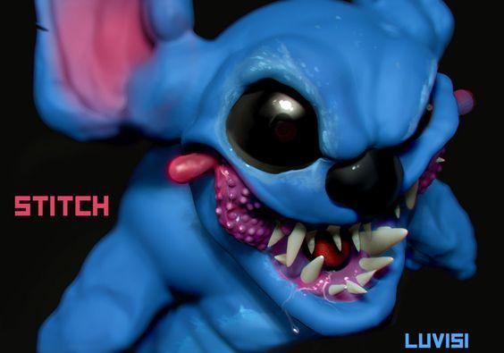 Artista cria versões assustadoras de personagens da Disney e da Pixar