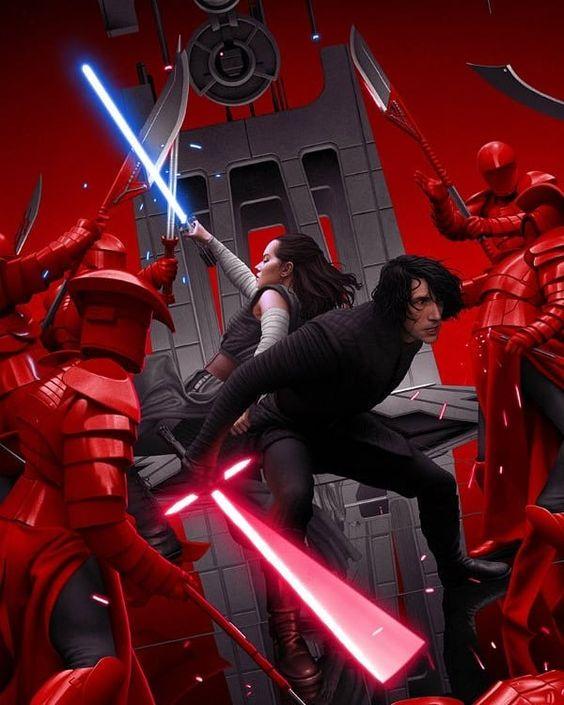 Star Wars The Last Jedi poster by @mondonews is awesome. Enjoy it! #StarWars #StarWarsBTS #TheLastJedi #Poster #Artist #Art