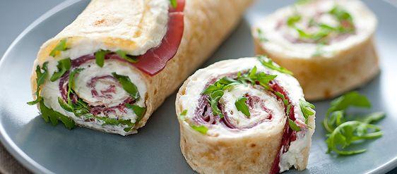 Ricette facili e veloci wrap con philadelphia rucola e for Ricette di cucina italiana facili