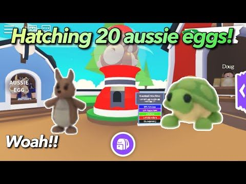 Hatching 20 Aussie Eggs I Got Legendary Pet Kangaroo Roblox Adopt Me Youtube In 2020 Adoption Pets Pet Adoption