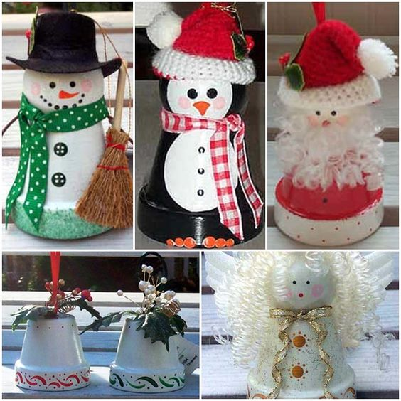 Christmas Crafts Using Clay Pots