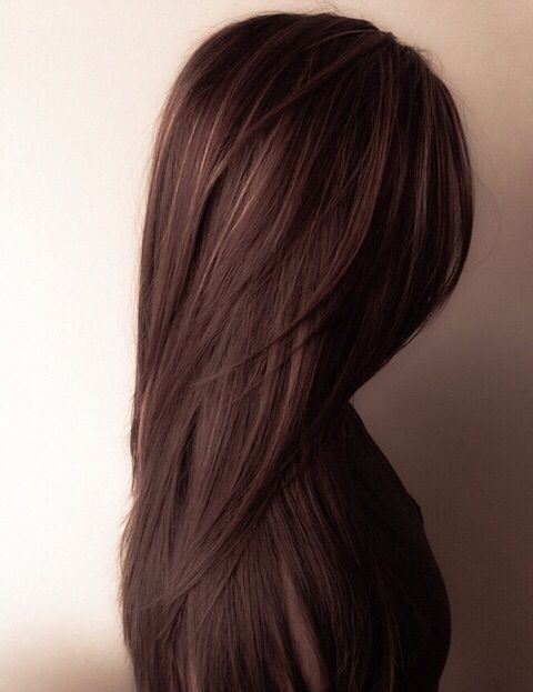 chocolate brown hair with some subtle gold highlights