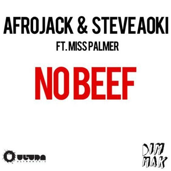 Afrojack, Steve Aoki, Miss Palmer – No Beef (single cover art)