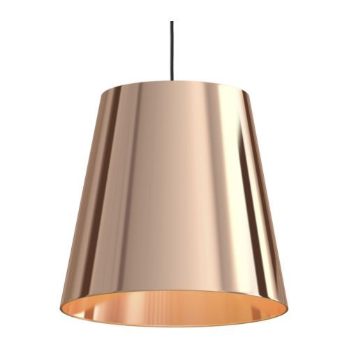 Copper Lamp Shade Ikea GNEJS Shade IKEA Directed light, shade of imitated copper makes the light extra decorative.