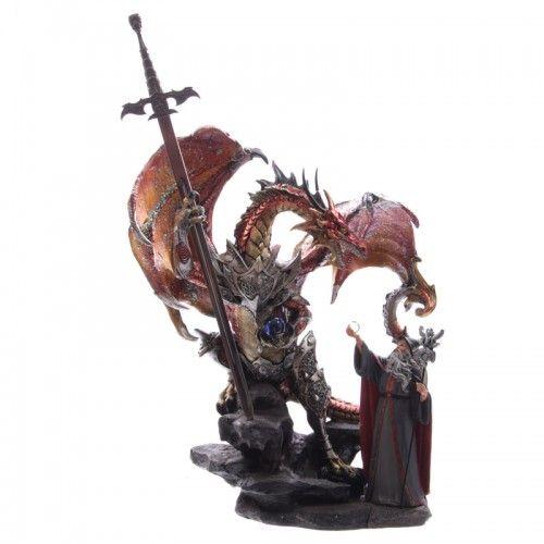 Wizard Warrior Fantasy Dragon Collectable Figurine from #Dochsa www.dochsa.com #Gothic