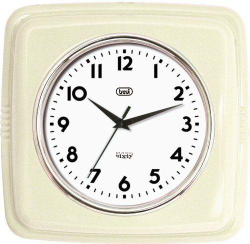 Trevi 3312 Original Sixty Retro Wall Clock (Ivory) Amazonuk - wanduhr für küche